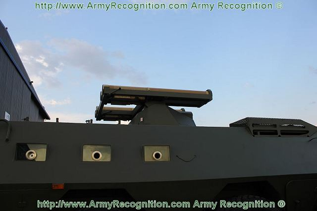 At AAD 2012, the CS/VN4 was equipped with a small turret mounted on the top middle of the crew compartment armed with four anti-tank missile launcher Ingwe of South Africa. The vehicle can be also fitted with one-man turret armed with 30mm cannon, 12.7 mm machine gun.