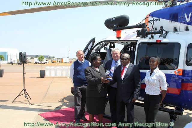 Namibia's Police Force (NAMPOL) today, September 20, 2012, took delivery of a new Eurocopter EC145 helicopter enabling it to continue expanding its airborne law enforcement reach and civil protection capabilities in what is one of Africa's largest countries.