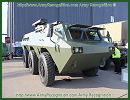 At AAD 2012, the Africa Aerospace and Defence Exhibition, the Chinese Company Poly Technologies shows its latest generation of wheeled armoured vehicle personnel carrier CS/VN4 that is marketed for the international military and security market.
