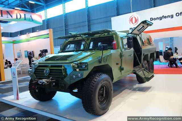 Chinese Defense Industry unveils at AAD 2014, a new version of the Dongfeng-Mengshi with an extended chassis and fitted with armour to increase protection and payload. The vehicle can carry a total of 10 military personnel including driver and commander.
