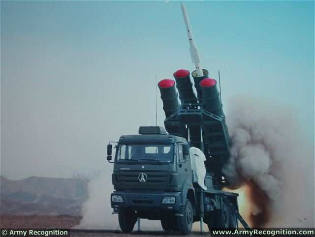 Chinese defense industry presents Sky Dragon 50 at AAD 2014, a new medium-range surface-to-air defense missile system. The Sky Dragon 50 is the latest generation of air defence missile system developed by Norinco which has a maximum firing range of 50 km.