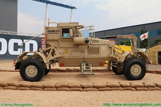 Husky 2G double cab, the latest generation in the Husky family of landmine detection vehicle produced and manufactured by the South African Company DCD could replace the Husky single cab in the U.S. armed forces.