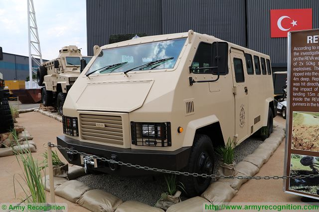The South African Company ICP presents its new low-maintenance vehicle REVA Protection capable of operating in the security environment and which can be used to transport police officers in dangerous areas under armour protection.