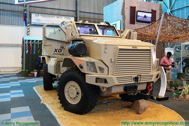 Springbuck XD MRAP DCD 4x4 armoured vehicle at AAD 2016 South Africa 001
