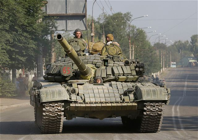 Pro-Russian separatists had reinforced their position with tanks and missile systems in East Ukraine 640 001