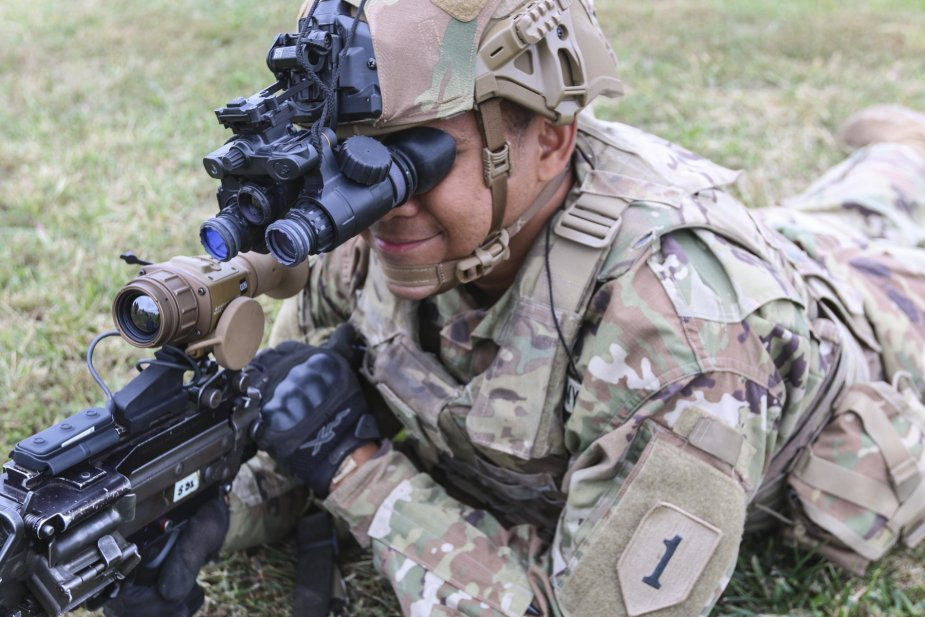 U.S. 1st Infantry Division first to field new night vision equipment 1