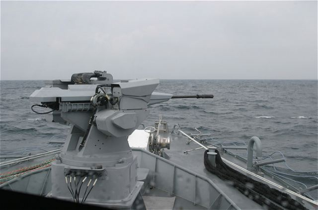 The Nexter Narwhal naval remote weapon systems is particularly designed for use in light ships with very high manoeuvrability for monitoring and close-in combat actions but may also be suitable for heavier tonnage ships. The effectiveness of the weapon is optimised by a stabilised sight associated with a fire-control system, while improving the operator's safety.