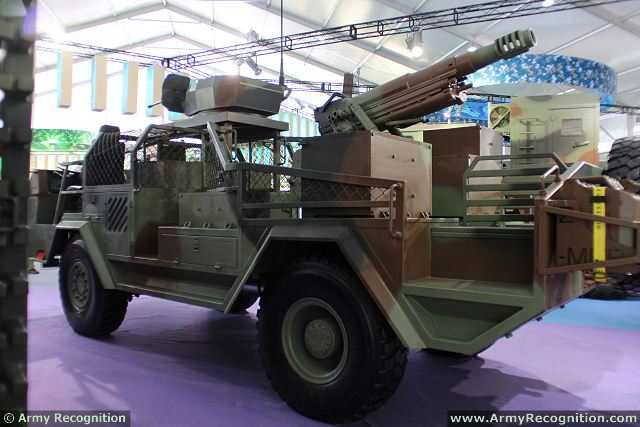 At the 10th International Aviation & Aerospace Exhibition, on the booth of Poly Technology, China Defense Industry unveils the 15P, a new high-maneuverability fire assault vehicle equipped with a 105mm howitzer mounted at the rear of 4x4 light truck chassis.