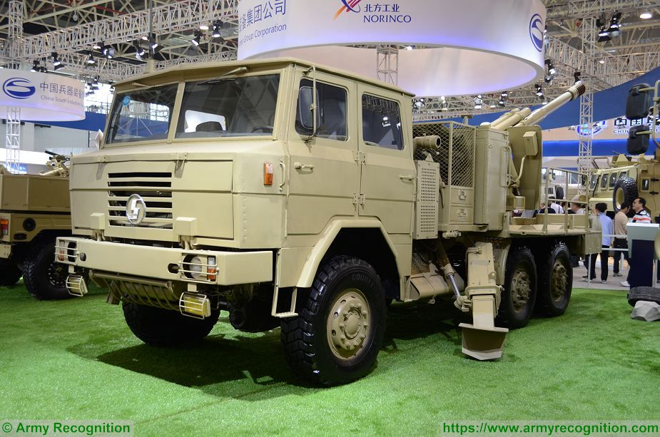 PCL 09 CS SH1 122mm wheeled 6x6 self propelled howitzer China Chinese army NORINCO defense industry 925 001