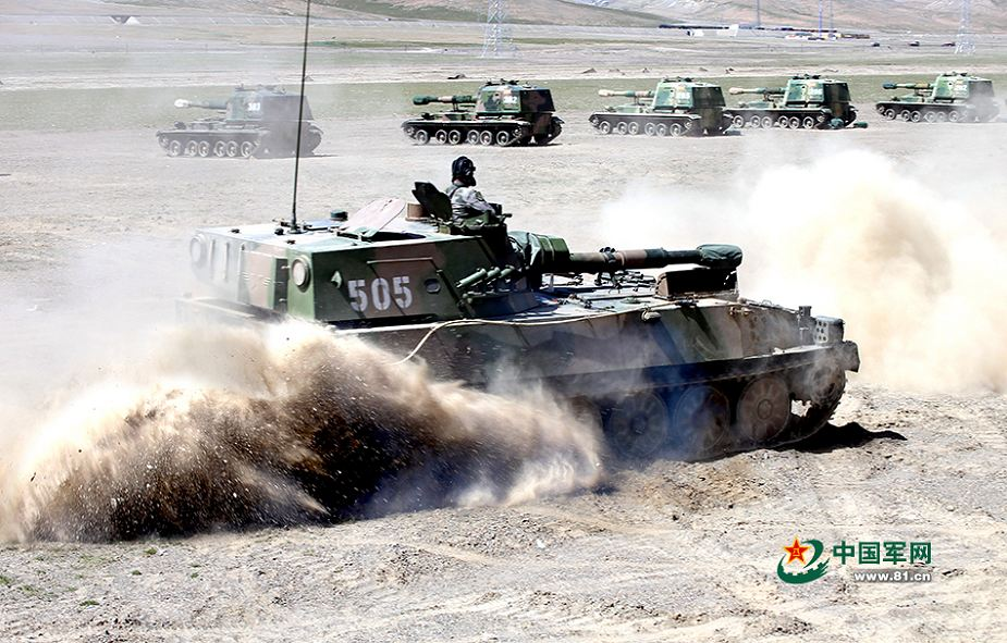 PLZ89 Type 89 122mm tracked self propelled howitzer China Chinese army defense industry Internet 925 002
