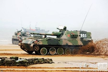PLZ89 Type 89 122mm tracked self propelled howitzer China Chinese army defense industry Internet left side view 450 001