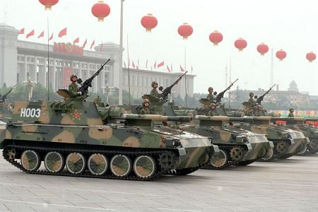 PLZ89 Type 89 122mm tracked self propelled howitzer China Chinese army defense industry Internet right side view 450 001