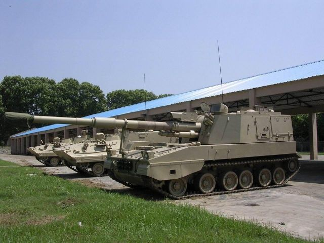 PLZ45 155mm 45 caliber self-propelled howitzer China Chinese army defense industry military technology 640 002
