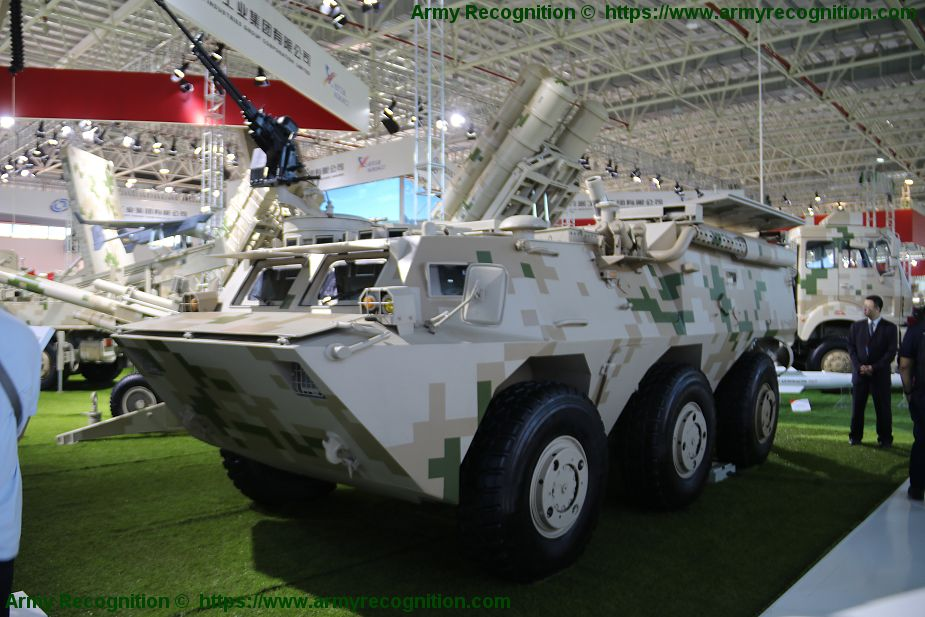 SM4 120mm wheeled 6x6 self propelled mortar carrier NORINCO China Chinese defense industry 925 001