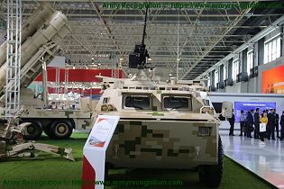 SM4 120mm wheeled 6x6 self propelled mortar carrier NORINCO China Chinese defense industry front view 001