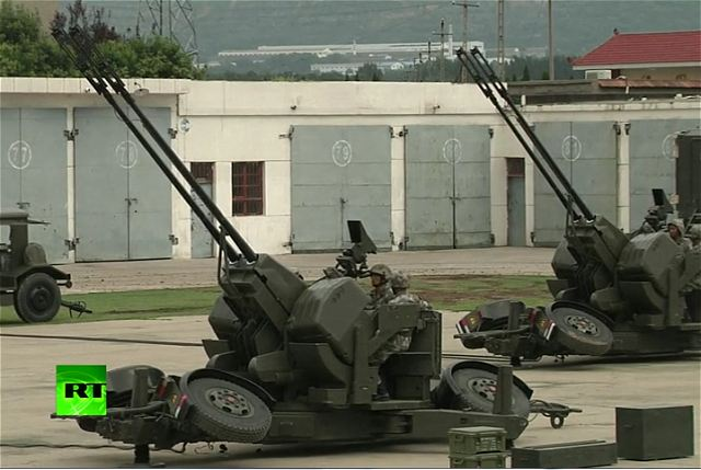 Type 90 PG99 35mm anti-aircraft twin-gun China Chinese army defense industry military technology 640 001