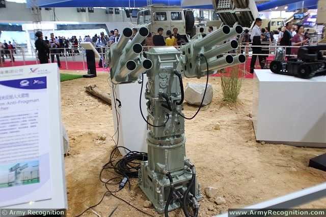 CS/AR1 55mm anti-frogman rocket launcher, which made its debut at the exhibition, was much praised for its fast reaction, high accuracy and easy maintenance.