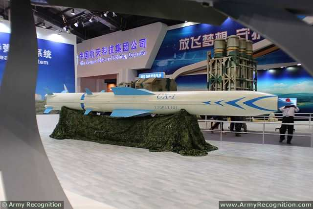 At AirShow China 2014 in Zhuhai, China Aerospace Science and Technology Corporation unveils the new CX-1 supersonic cruise missile which can be used against naval and land targets. A cruise missile is a guided missile, the major portion of whose flight path to its target is conducted at approximately constant velocity. The supersonic missile travel faster than the speed of sound, usually using ramjet engines.