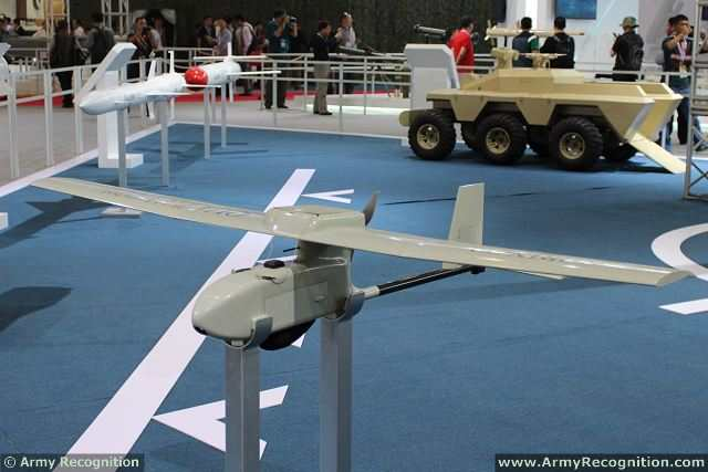 QU1 Hand-Launched UAV System at AirShow China 2014 in Zhuhai, China.