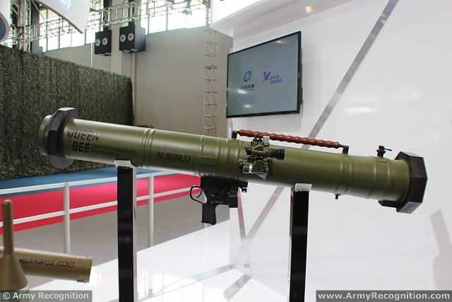 Queen Bee 120mm Anti-Tank Rocket Weapon System at AirShow China 2014 in Zhuhai, China.