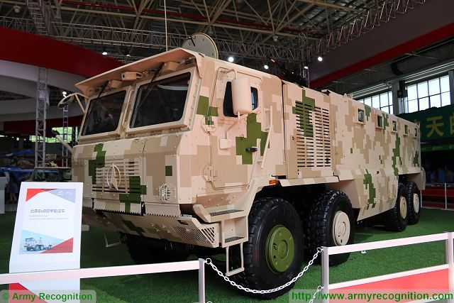 Beiben Kaijia 8x8 heavy tactical armoured truck personnel carrier Norinco China Chinese defense industry Zhuhai AirShow China 640 001