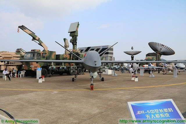 CH-5 Rainbow-5 armed drone unmanned combat aerial vehicle UAV China Chinese defense industry Zhuhai AirShow China 640 002