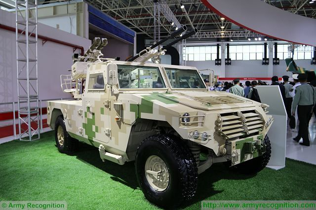 CS-AA6 4x4 light gun missile anti-aicraft weapon system China Chinese defense industry Zhuhai AirShow China 640 002