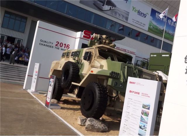 Lot of new Chinese-made military equipment and combat vehicles at Zhuhai AirShow China 2016 640 001