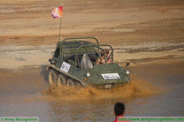 CS/VP4 Lynx ATV All-Terrain Vehicle at Zhuhai AirShow China 2016 ground mobility demonstration