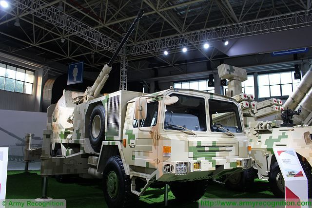 SA2 76mm anti-aircraft mobile gun system China Chinese defense industry Zhuhai AirShow China 640 001