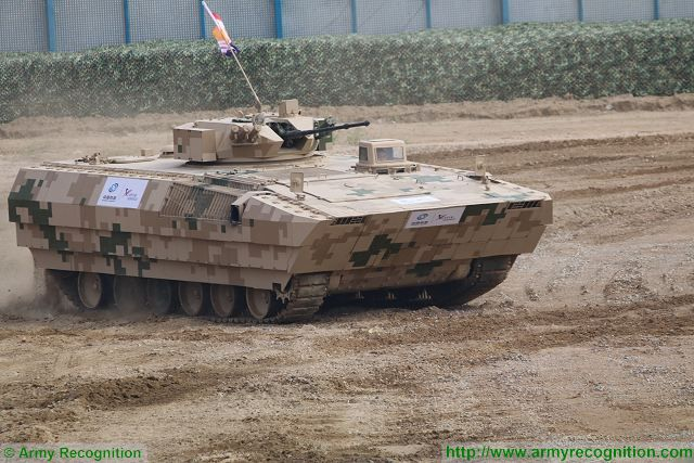 VN12 tracked armoured personnel carrier at Zhuhai AirShow China 2016 ground mobility demonstration.