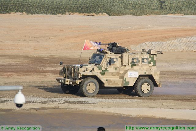 VP11 4x4 MRAP at Zhuhai AirShow China 2016 ground mobility demonstration
