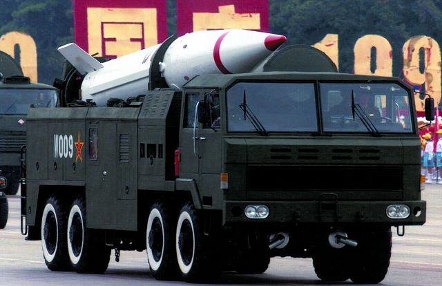 DF-15 short-range  road mobile ballistic missile China Chinese army military equipment defense industry 640 001