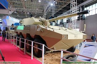 ST1 tank destroyer 8x8 armoured vehicle technical data sheet specifications pictures video information description intelligence identification China Chinese PLA army industry military technology equipment
