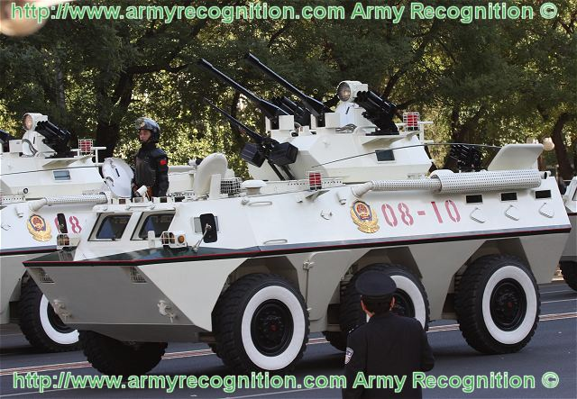 WJ-03B WZ901 anti-riot wheeled armoured vehicle data sheet specifications information description intelligence pictures photos images PLA China Chinese army identification