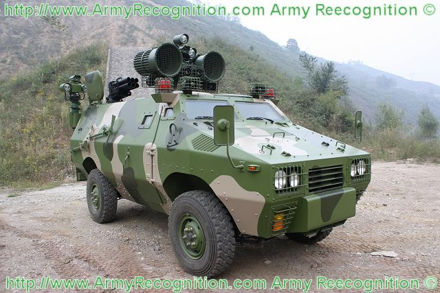 PsyOps wheeled armoured vehicle ZFB05 technical data sheet information description intelligence pictures photos images China Chinese army identification Shaanxi Baoji Special Vehicles Manufacturing