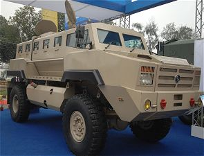MPV Ashok Leyland mine protected vehicle technical data sheet description information pictures intelligence specifications photos images India Indian