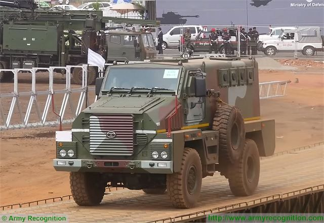 MPV 4x4 wheeled Mine Protected Vehicle Tata Motors India Indian army military equipment defense industry 640 001
