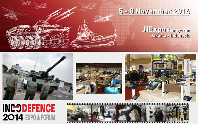Indo Defence 2014 pictures video Web TV Television photos images gallery tri-service defence event exhibition Jakarta Indonesia 5 to 8 November 2014