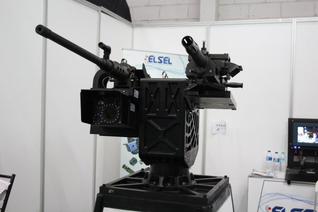 ELSELs LIVET advanced remote controlled turret highlighted at Indodefence 2016 002