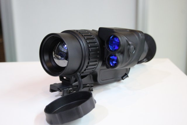 OPTIX from Bulgaria showcases its new compact laser Rangefinder LRF 905-500 at Indo Defence 2016 001