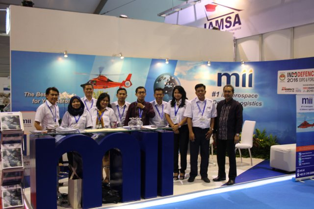 The Indonesian supply chain and logistics industry MII presents its services at Indodefence 2016