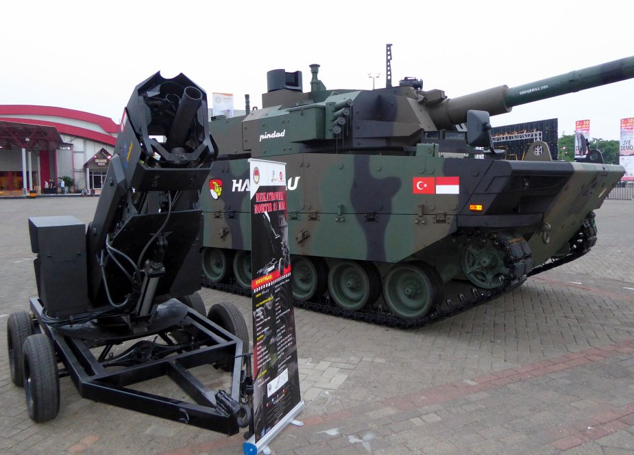 IndoDefence 2018 Indonesia army displays Mekatronic 81mm mortar 3