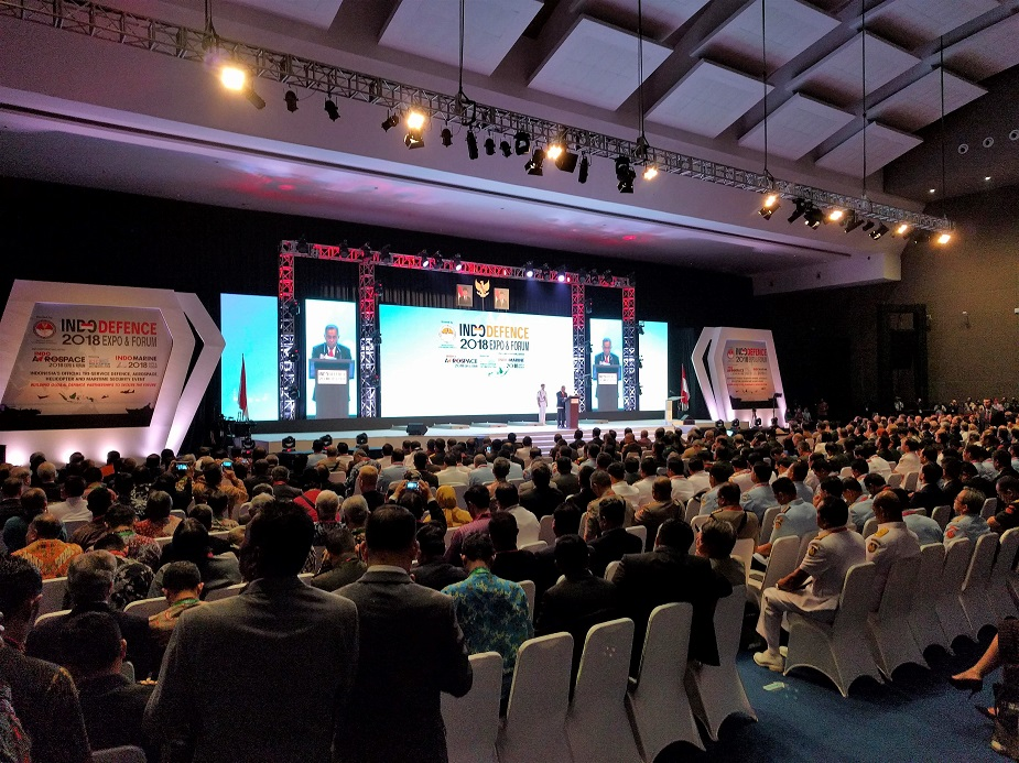 Today Opening of IndoDefence 2018 Defense Exhibition in Jakarta Indonesia