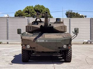 MCV 8x8 Maneuver Combat Vehicle 105mm gun technical data sheet specifications pictures video description infotmation intelligence identification Japan Japanese army self-defense forces industry military technology