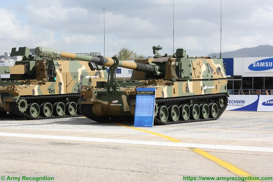 K9 Thunder 155mm tracked self propelled armoured howitzer South Korea South Korean Army 925 001