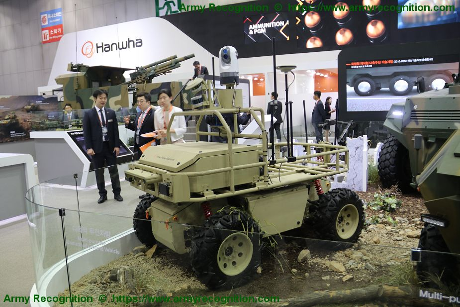 MPUV Hanwha Land Systems 4x4 Multi Purpose Unmanned Vehicle DX Korea 2018 001