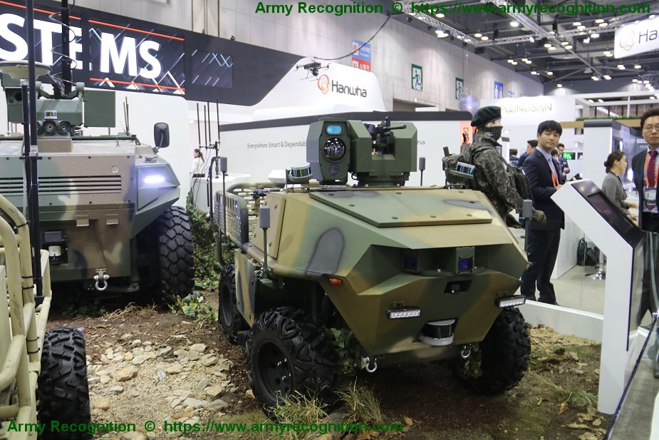 MPUV Hanwha Land Systems 4x4 Multi Purpose Unmanned Vehicle DX Korea 2018 002