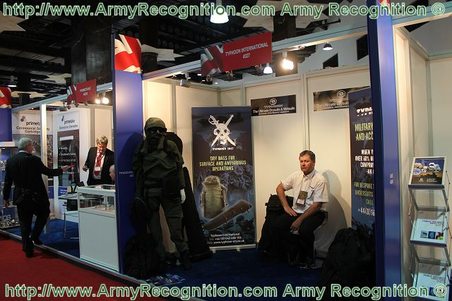 At DSA 2012 Defence Exhibition in Kuala Lumpur, the British Company Typhoon will be showing a range of amphibious dry bags which will include the waterproof rucksack. The rucksack is made from a tri-laminate texturised polyester Kevlar composite material and is available in the following sizes; 120, 170 & 225 litres.