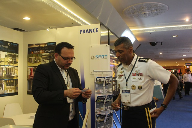 For more than 30 years, SERT is offering a wide range of mobile field utilities for Defense and Security sectors to improve the life support (Catering, Sanitation and Life Camp) in critical conditions such as emergency missions. During DSA 2014 event, SERT shows one of its technological solutions to the Malaysian armed forces, to the other countries of the region and to all the buyers attending this exhibition.